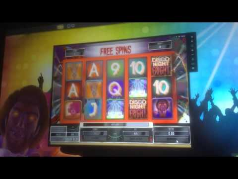 Ice cold free spins bonus on Disco Night Fright.