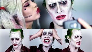 The Joker Suicide Squad ft. Harley Quinn - Makeup Tutorial