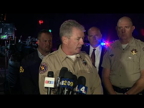 "Sheriff Geoff Dean: ""Eleven victims, the suspect is 12, and Sergeant Helus makes 13."""