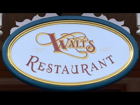 Walt's Restaurant at Disneyland Paris Detailed Tour with Food, Decor and Art, Main Street U.S.A. HD
