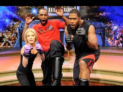 Jon - UFC Champ Jon Jones Teaches Kelly and Michael Some Moves!!