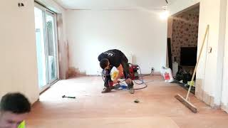 S&D Flooring Domestic sub floor preparations timelapse