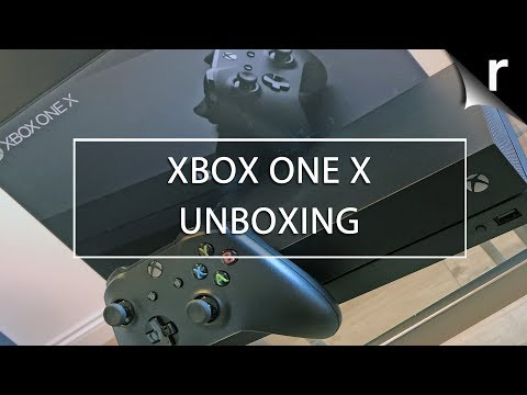 Xbox One X Unboxing (UK model)