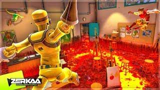 THE FLOOR IS LAVA CHALLENGE! (Hot Lava)