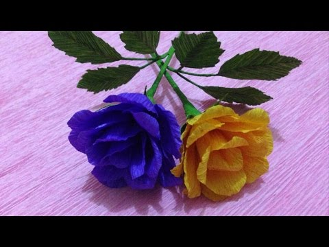 How to make rose crepe paper flowers flower making of crepe paper video how to make rose crepe paper flowers flower making of crepe paper paper mightylinksfo