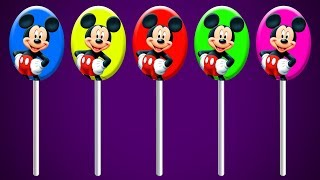 Colors With Mickey Mouse Lollipops Finger