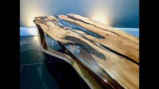 The Yew Epoxy Resin coffee table no.1 - River table