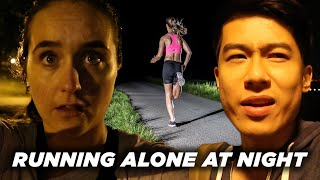 Video A Man And A Woman Compare Running Alone At Night MP3, 3GP, MP4, WEBM, AVI, FLV Februari 2019