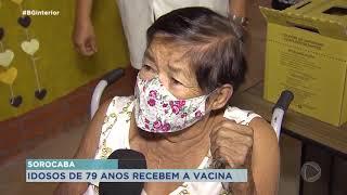 Começou a vacinação dos idosos com mais de 79 anos em Sorocaba