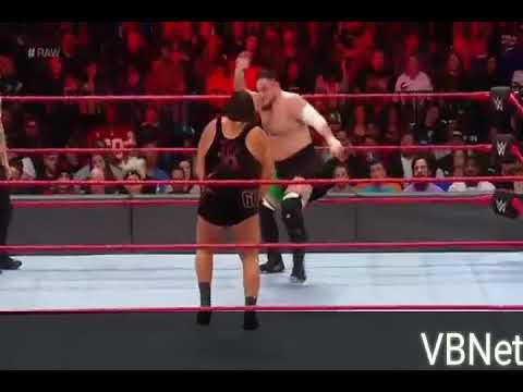 Samoa Joe Vs. Rhyno - Raw 08/18
