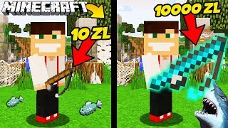 Video WĘDKA ZA 10 ZŁ VS WĘDKA ZA 10000 ZŁ W MINECRAFT! || MINECRAFT PRESTIŻ MP3, 3GP, MP4, WEBM, AVI, FLV September 2019
