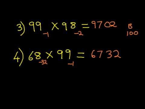 Vedic Math & Mental arithmetic : Nikhilam Method – 2 Digit Multiplication