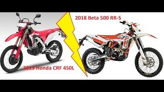 10. 2019 Honda CRF450L vs Beta 500RR-S and other rambling..