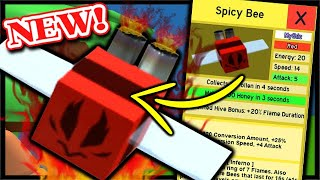 Hot New Spicy Bee Mythic Leak All Stats Abilities Roblox
