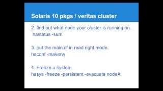 Installing Solaris 10 Pkg On A Veritas Cluster Environment