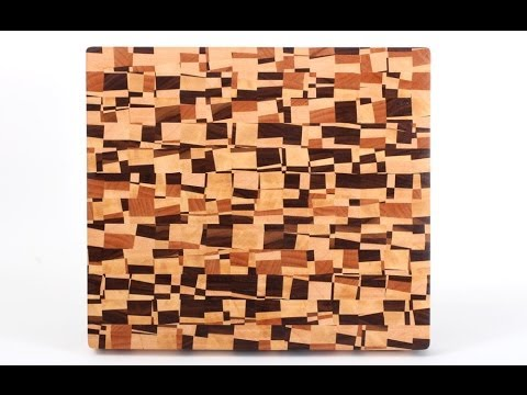 Making a chaotic pattern end grain cutting board