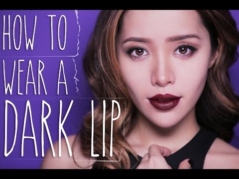 How to Wear a Dark Lip