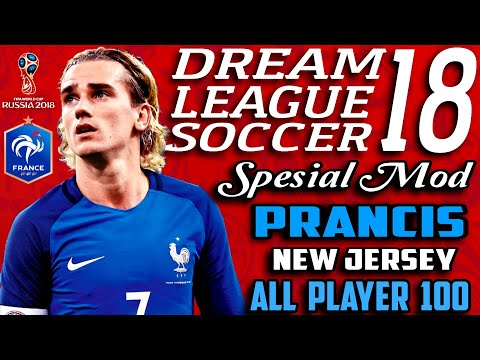 Download Dream League Soccer 18 Mod France (Perancis) World Cup Russia 2018 | Hack Unlimited Money