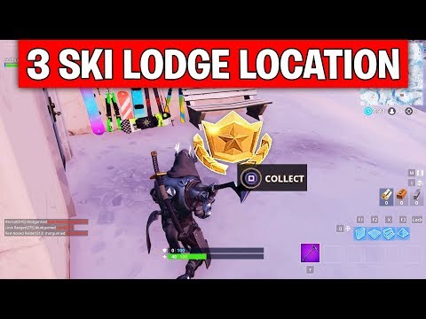 Search between Three Ski Lodges - EXACT LOCATION Week 3 Challenges Fortnite Season 7