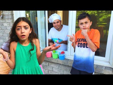 Heidi and Zidane with Giant Ice Cream story