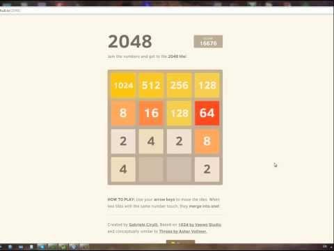 2048 puzzle játék, számjáték megoldás