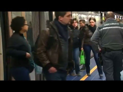 Maelbeek metro station reopens in Brussels after last month's bomb blasts.