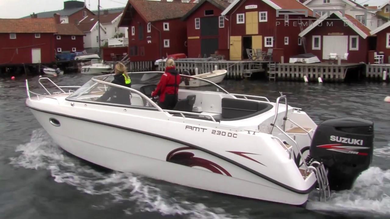 Каютный катер AMT 230 DC для моря и внутренних водоемов | Катер для рыбалки и отдыха всей семьей