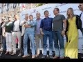 The Expendables 3: Cast Arrives to Cannes in Tanks for Press Conference - Arnold Schwarzenegger