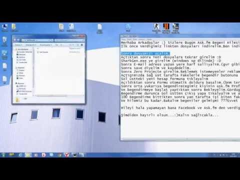 ASk.fm 2013 Şubat Tek Çalışan Hile !