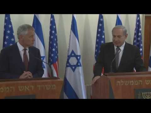 "Chuck Hagel, in his first official to Israel as U.S. Secretary of Defense, stressed that ""military-to-military cooperation between the U.S. and Israel is stronger than ever, and will only continue to deepen in the future."" Secretary Hagel and Israeli Minister of Defense Moshe ""Boogie"" Yaalon agreed that the United States will make available to Israel new advanced military capabilities, including anti-radiation missiles and advanced radars for its fleet of fighter jets, KC-135 refueling aircraft, and most significantly, the V-22 Osprey, which the U.S. has not released to any other nation. Secretary Hagel visited Yad Vashem and met with President Shimon Peres and Prime Minister Benjamin Netanyahu."