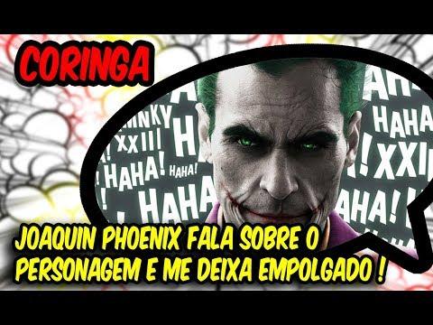 CORINGA - JOKER - DC  Joaquin Phoenix fala sobre o personagem e me deixa empolgado !