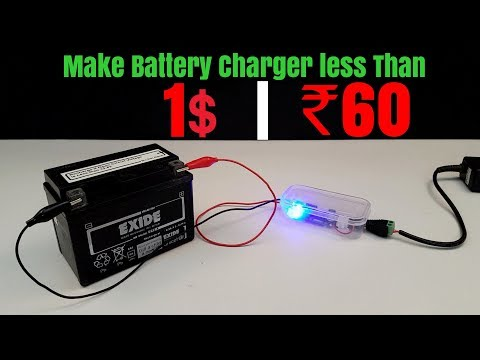 How To Make 12 Volt Battery Charger At Home (Creative Life)
