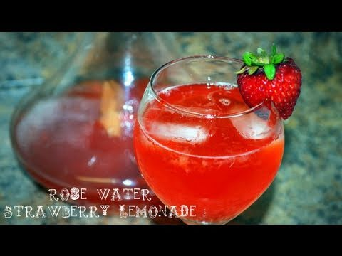 Rose Water Strawberry Lemonade