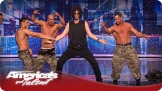 Howard Dances with The Savage Men - America's Got Talent Season 7 Audition