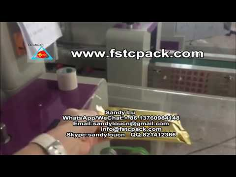 Automatic Pillow Packing Machine For Candy Bar & Chocolate&energy Bar  Taichuan