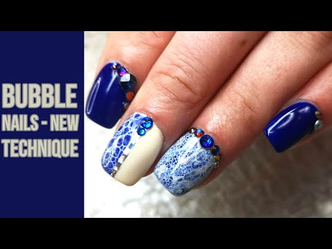 Bubble Nails with a New Technique on Short Nails