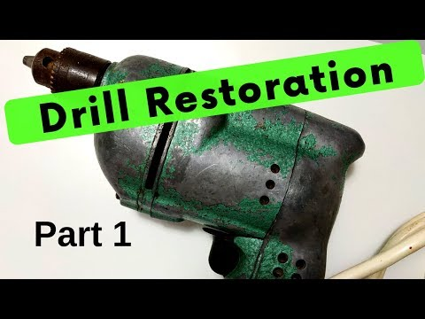 Vintage Power Drill  - Part 1 - Tear-down and clean up (New edit) Tool Restore - diYotam Ch