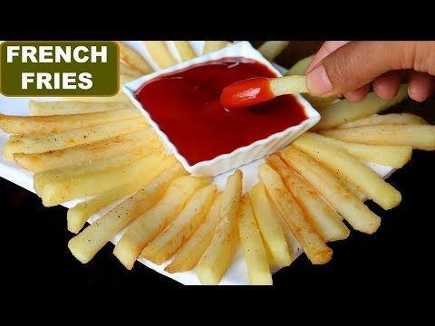 McDonalds फ्रेंच फ्राइज at HOME   Crispy French Fries Recipe in Hindi   Potato Fries   CookWithNisha