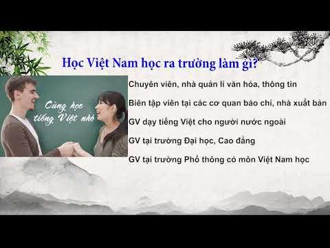 Thông tin ngành Việt Nam học