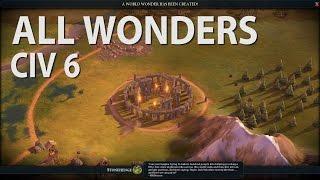 Video Civilization 6 - ALL WONDERS MP3, 3GP, MP4, WEBM, AVI, FLV Maret 2018