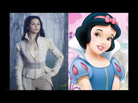 Once Upon A Time Characters And Their Respective Disney Counterparts (Once VS Disney 2)