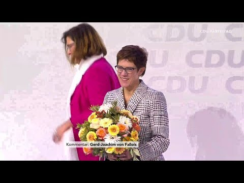Wahl von Annegret Kramp-Karrenbauer zur CDU-Vorsitzen ...