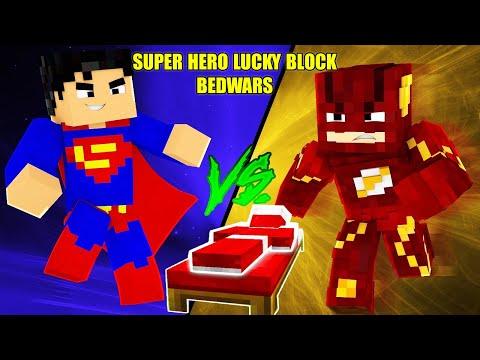 MINI GAME : SUPER HERO LUCKY BLOCK BEDWARS ** ĐẠI CHIẾN SIÊU ANH HÙNG BẢO VỆ GIƯỜNG TRONG MINECRAFT - Thời lượng: 21:13.