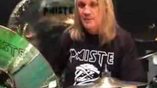 Iron Maiden drummer Nicko McBrain shows us around his kit and especially his Paiste cymbals set-up! Nicko's set-up (from the Paiste website) 15