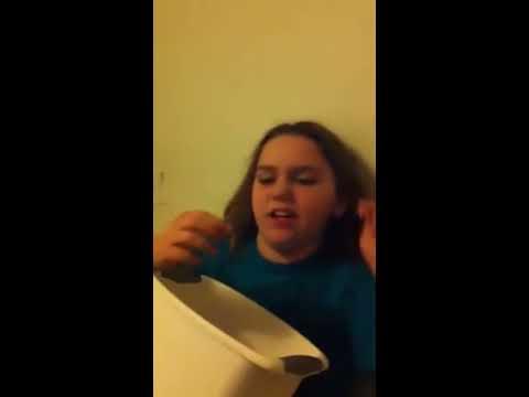 Girl gagging