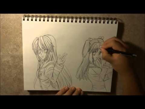 Drawing Tomoyo Sakagami and Kotomi Ichinose   Extended