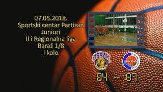 kk cerak kk sava 84 87 (juniori, 07 05 2018 ) košarkaški klub sava