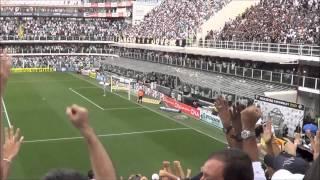 O Santos empatou na final do campeonato Paulista 2013 e acabou perdendo o título. Gol de Cícero.