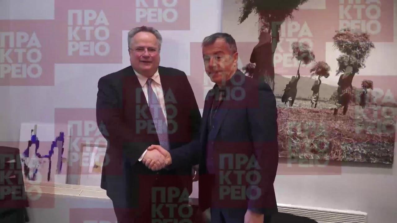 Συνάντηση Ν. Κοτζιά με τον επικεφαλής του Ποταμιού Στ. Θεοδωράκη