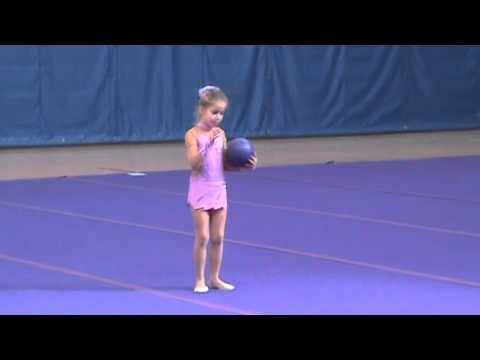 BGD Irena Beznos Level 3 Rhythmic Gymnastics Ball Dance (видео)